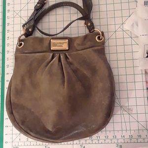 MARC JACOBS leather dark olive green bag